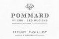 Maison Henri Boillot Pommard Premier Cru Les Rugiens - label