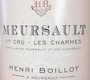 Maison Henri Boillot Meursault Premier Cru Charmes - label