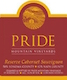 Pride Mountain Vineyards Reserve Cabernet Sauvignon - label