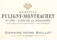 Domaine Henri (ex Jean) Boillot Puligny-Montrachet Premier Cru Clos de la Mouchère - label