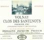 Domaine Jacques Prieur Volnay Premier Cru Clos des Santenots - label