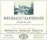 Domaine Jacques Prieur Meursault Premier Cru Santenots - label