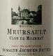 Domaine Jacques Prieur Meursault Clos de Mazeray Rouge - label