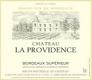 Château La Providence  - label