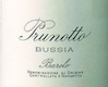 Prunotto Barolo Bussia - label