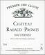 Château Rabaud-Promis  Premier Cru - label