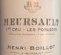 Maison Henri Boillot Meursault Premier Cru Poruzots - label