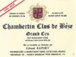 Domaine Gérard (formerly Jean) Raphet Chambertin Clos de Bèze Grand Cru  - label