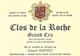 Domaine Gérard (formerly Jean) Raphet Clos de la Roche Grand Cru  - label