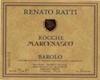 Renato Ratti Barolo Marcenasco - label