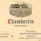 Domaine Henri Rebourseau Chambertin Grand Cru  - label