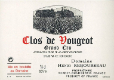 Domaine Henri Rebourseau Clos de Vougeot Grand Cru  - label