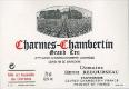 Domaine Henri Rebourseau Charmes-Chambertin Grand Cru  - label