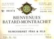 Remoissenet Père et Fils Bâtard-Montrachet Grand Cru  - label