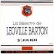 Château Léoville Barton La Réserve de Leoville-Barton - label