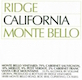 Ridge Vineyards Monte Bello - label