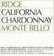 Ridge Vineyards Chardonnay - label