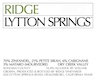 Ridge Vineyards Lytton Springs - label
