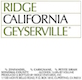 Ridge Vineyards Geyserville - label
