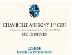 Domaine Michèle & Patrice Rion Chambolle-Musigny Premier Cru Les Charmes - label