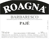 Roagna Barbaresco Paje - label