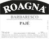 Roagna Barbaresco Paje - label