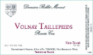 Roblet-Monnot Volnay Premier Cru Taillepieds - label
