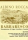 Albino Rocca Barbaresco  - label
