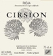 Bodegas Roda Rioja Cirsion - label