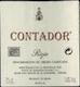 Contador (Benjamin Romeo) Rioja Contador - label