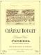 Château Rouget  - label