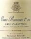 Emmanuel Rouget Vosne-Romanée Premier Cru Cros Parantoux - label