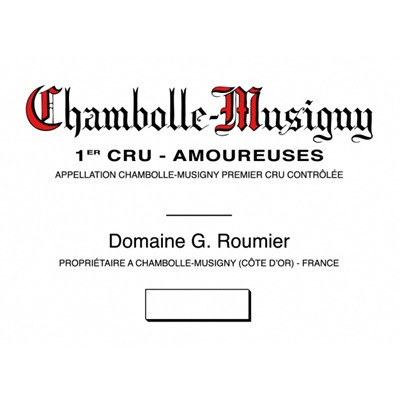 Domaine Georges (or Christophe) Roumier Chambolle-Musigny Premier Cru Les Amoureuses - label
