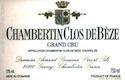 Domaine Armand Rousseau Chambertin Clos de Bèze Grand Cru  - label