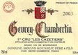 Domaine Armand Rousseau Gevrey-Chambertin Premier Cru Les Cazetiers - label
