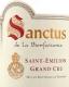 Château La Bienfaisance Sanctus Grand Cru - label