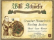 Willi Schaefer Graacher Himmelreich Riesling Nr.9 Auslese - label