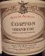 Seguin-Manuel Corton Grand Cru  - label