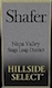 Shafer Vineyards Hillside Select Cabernet Sauvignon - label