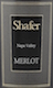 Shafer Vineyards Merlot - label
