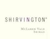Shirvington Shiraz - label