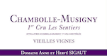 Domaine Sigaut Chambolle-Musigny Premier Cru Les Sentiers - label