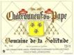 Domaine de la Solitude Châteauneuf-du-Pape  - label