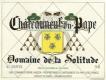Domaine de la Solitude Châteauneuf-du-Pape Blanc - label