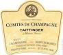 Taittinger Comtes de Champagne Blanc de Blancs Grand Cru - label