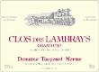 Domaine Taupenot-Merme Clos des Lambrays Grand Cru  - label