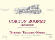 Domaine Taupenot-Merme Corton Grand Cru Le Rognet - label
