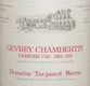 Domaine Taupenot-Merme Gevrey-Chambertin Premier Cru Bel Air - label