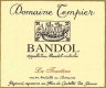 Domaine Tempier Bandol Cuvée la Tourtine - label