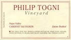 Philip Togni Vineyard Cabernet Sauvignon - label
